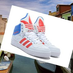 more photos 5df7a 44281 Adidas Originals Jeremy Scott Winter Unisex Shoes White   Red   Blue HOT  SALE! HOT