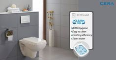 Who isn't looking for better hygiene and better flushing efficiency for their bathroom? The new CERA Campbell ensures easy cleaning and saves water. CERA sanitaryware – beauty with utility! ‪#‎CERA‬  ‪#‎ReflectsMyStyle‬