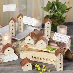 Birdhouse Place Card Holders