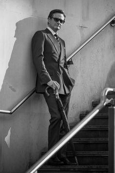 Colin Firth as Harry Hart in Kingsman Via https://www.pinterest.com/pin/54113632998955220/