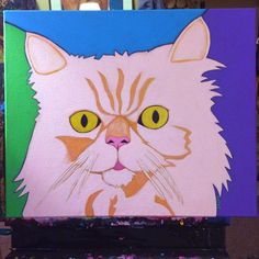 Think I'm ready to call this one done. Whadya think @sunnythepersiancat? #wip #workinprogress #custompetportrait #catportrait #catpainting #painting #fineart #bztatart