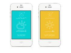 UI Design WEAT on App Design Served