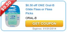 $0.50 off ONE Oral-B Glide Floss or Floss Picks Coupon