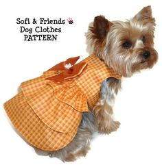 THANKSGIVING Dog Clothes Pattern 1628 Ruffle Dog by SofiandFriends