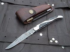 "Amazon.com : DKC-777 TWIN PEAKS Laguiole Damascus Steel Folding Pocket Knife 4 oz 8.5"" long 3.5"" Blade DKC KNIVES : Sports & Outdoors"