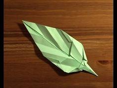 ▶ origami feuille leaf.mpg - YouTube