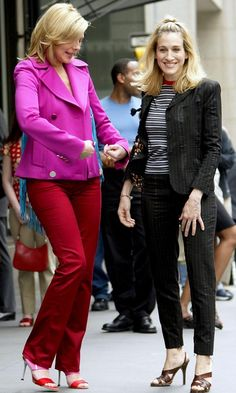 Carrie Bradshaw, Sarah Jessica Parker, Sex and the City Fashion Tv, Fashion Looks, Womens Fashion, City Fashion, Power Dressing, Carrie Bradshaw Hair, Samantha Jones, City Outfits, Work Outfits