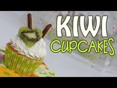 Cupcakes de kiwi con corazones y galletas de chocolate - YouTube