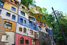 VK is the largest European social network with more than 100 million active users. Architecture Design, Multi Story Building, Colors, Home, Facades, Vienna, Tulips, Places To Visit, Hundertwasser