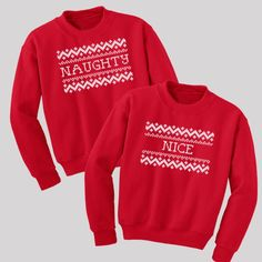Naughty and Nice Sweatshirt Set - US free shipping only - Available in s, m, l, xl and 2xl #SantaPakSweeps