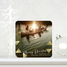 For those just 'Traveling Through' choose this Holiday Photo Card and simply add your favorite family travel photo.