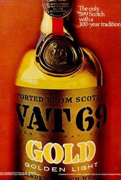 Vat 69 Scotch Whisky Bottle - Propaganda (1971)