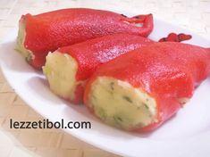 Patatesli Kırmızı Biber Dolması   Lezzetibol