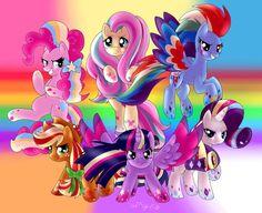 Mane 6 Rainbowed