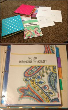 Make a great student binder for college or even high school and middle school.