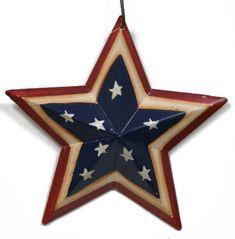Primitive Americana Decor   Mini Primitive Americana Metal Barn Star - Americana - Primitive Decor