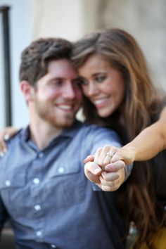 She gives us a close-up view of her sparkly engagement ...