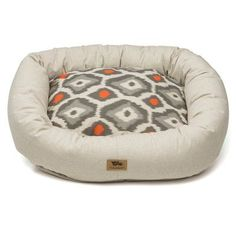 "West Paw Design Pet Bumper Bed II Color: Linen / Sunset, Size: Extra Large (42"" L x 34"" W)"