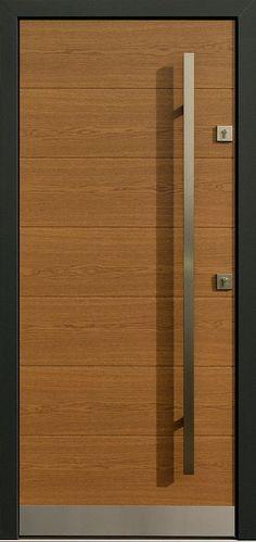 Dębowe wejściowe drzwi zewnętrzne 431,2 winchester + antracyt
