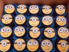 She loves minions Minion Cupcakes, Kid Cupcakes, Sweet Cupcakes, Yummy Cupcakes, Cupcake Cakes, Owl Food, Cupcake Recipes, Cupcake Ideas, Cake Stall