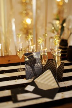 Ring in the New Year with a classy New Year's Eve party with black and gold accents.