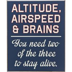 Good-Natured Aviation Signs  $21.99