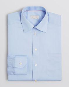Eton Solid Herringbone Dress Shirt - Classic Fit