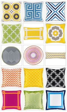 jonathan adler happy chic pillows jcpenney - love the bright colors and geometric designs