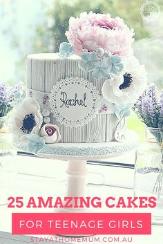 25 Amazing Cakes for Teenage Girls Teen Girl Cakes, Teenage Girl Cake, Teenage Girl Birthday, Teenager Birthday, Bday Girl, 13th Birthday Cake For Girls, Cool Birthday Cakes, Cakes For Teenagers, Amazing Cakes