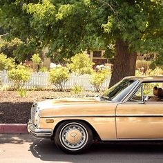 White picket fence and a classic Benz  #Mercedes #w114 #250c