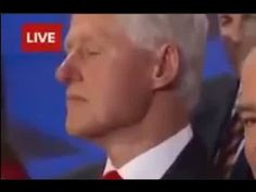 Bill Clinton Falls Asleep During Hillary's DNC Speech - Bill Clinton Is Pure Evil! Wake Up! Wake Up! - YouTube