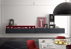 Search all products and retailers of PIANCA: discover prices, catalogues, and novelties Modular Cabinets, Modular Walls, Console Storage, House Rooms, Luxury Living, Architecture Design, Furniture Design, Interior Design, Home