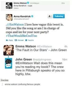 The impression you get is that Emma Watson doesn't really get social media... it's the same on instergram