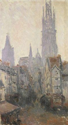 'La Rue de l'Épicerie à Rouen', around 1892 - Los impresionistas en Normandía - 20minutos.es