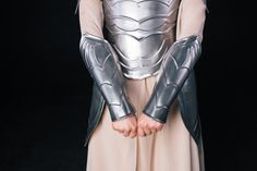 27E  ARM PROTECTIONS - Steel Armor Bracers Steel Nymph  - Pair