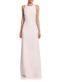Elizabeth and James - Freya Cutout-Back Column Dress