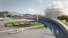 Piazza d'Armi Urban Park, Modostudio, public park, multi-use building, urban design