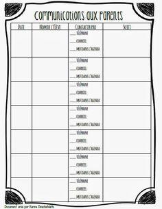 Journal de planification Class Management, Classroom Management, Organisation Administrative, French For Beginners, Core French, French Classroom, Parent Communication, Future Jobs, Binder Organization