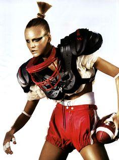 Caroline Trentini by Mikael Jansson for Vogue Paris, April 2007.