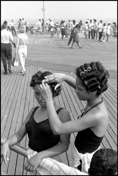 Leonard Freed, Coney Island boardwalk, New York City, USA, . Coney Island, Leonard Freed, Alexey Brodovitch, Sleep In Hair Rollers, Bobe, Roller Set, Civil Rights Movement, Fade To Black, Free Photography