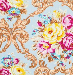 SALE Jennifer Paganelli Fabric, Circa, Maggie in Rose, Floral Bouquet Fabric, One Yard by chitchatfabrics on Etsy https://www.etsy.com/listing/150884642/sale-jennifer-paganelli-fabric-circa