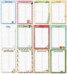 Free Perpetual Calendar Template | Posts related to Perpetual Birthday Calendar Template