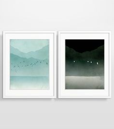 Morning and Night Flight - Wall Art Set of 2