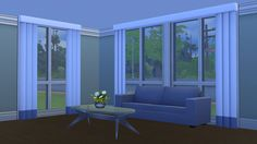 Mod The Sims - Larger & Taller Nouveau Riche Blinds - Maxis Add-On