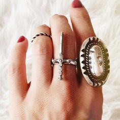 Beautiful silver rings.Luanna Perez Luanna Perez, Gemstone Rings, Gemstones, Beautiful, Jewelry, Silver Rings, Hipster Stuff, Slip On