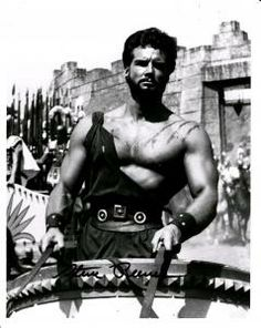 Iconic sand  sandals star Steve Reeves 8x10 auto photo + DVD $35 free ship