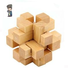 Cube 2014 Adult Boutique Children's Educational Toys Wooden Classic Tic Tac Toe Ming Lock Luban Lock Brain Teaser LH382 $25.99