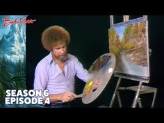 Narrow, winding, rocky – this little Bob Ross style creek moves closer and closer, flowing aimlessly through a happy little meadow forest. Season 6 of The Jo. Bob Ross Painting Videos, Bob Ross Paintings, The Joy Of Painting, Painting On Wood, Painting Lessons, Art Lessons, Pinturas Bob Ross, Bob Ross Youtube, Robert Ross