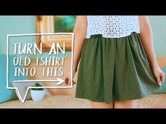 Transform An Old T-shirt Into A Fashionable Skirt - DIY Skirt - Gwyl.io
