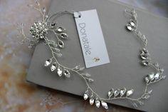 Crystal headpiece Crystal Hair Vine Bridal by DonataleFlowers4You